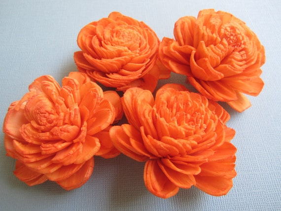Sola Flowers - Cosmo Style - Set of 12 - Tangerine