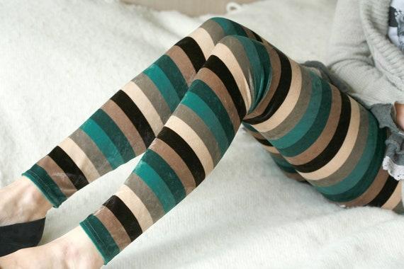 Striped  Velvet leggings