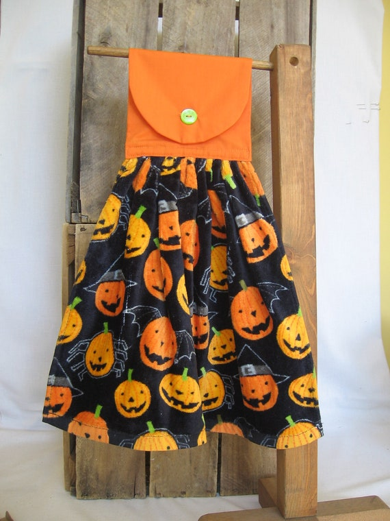 Halloween Pumpkin Kitchen Towel Hanging Kitchen Towel with Halloween Pumpkins