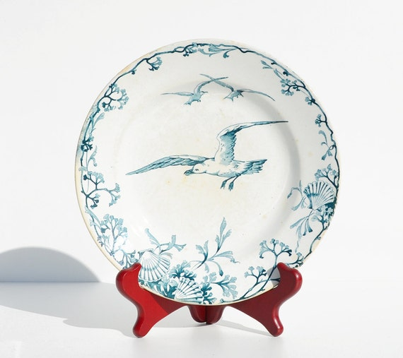 French Seagull Bird Plate Ironstone