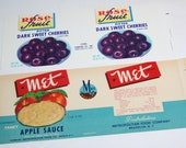 2 Vintage Fruit Can Labels - Mixed Media, Altered Art, Collage, Assemblage Supplies