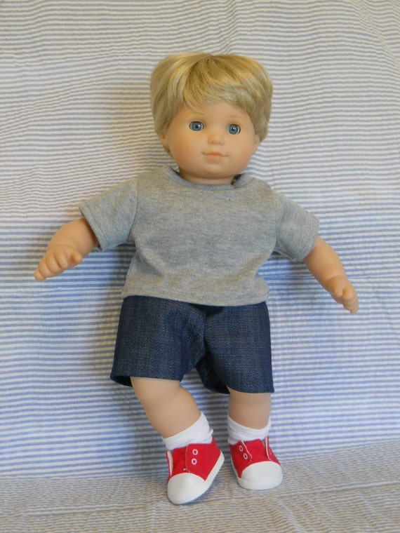 15 Inch Doll Clothes American Girl Bitty Twin Boy T Shirt