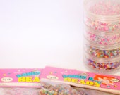 SALE 50% OFF, Over 1 LB of Pastel and Multicolor 10/0 Seed Beads and organizer