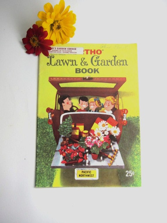 Vintage Lawn and Garden Book, Ortho Advertising Pamphlet, 1959