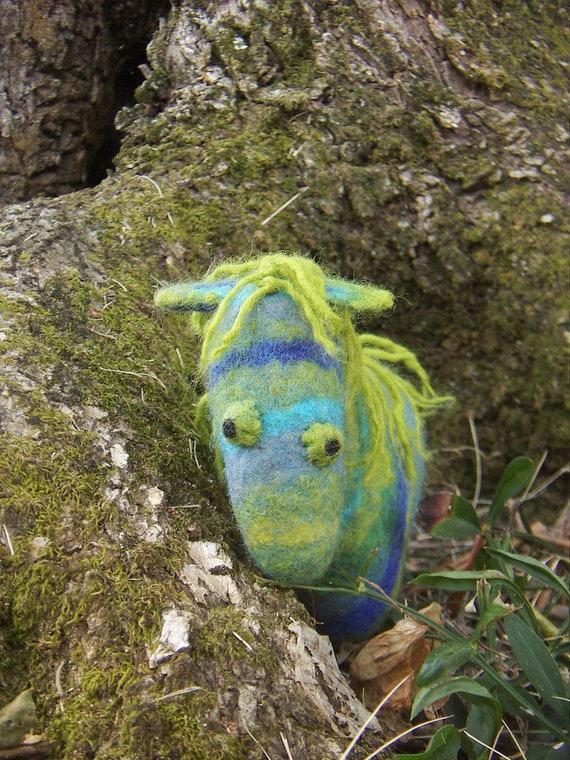 Felted toy. Wool horse. Felted fairy horse. Buchephalos