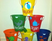 Personalized Sand Bucket, Sand Pail- Great Party Favors