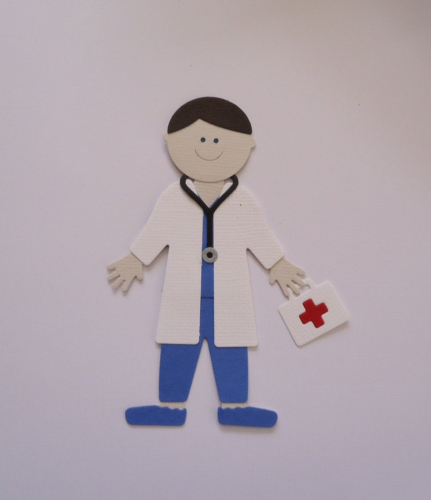 Doctor die cut for cardmaking scrapbooking fully assembled for Doctor crafts for toddlers