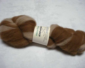 MARKED DOWN - Alpaca Roving - Medium Brown and Fawn