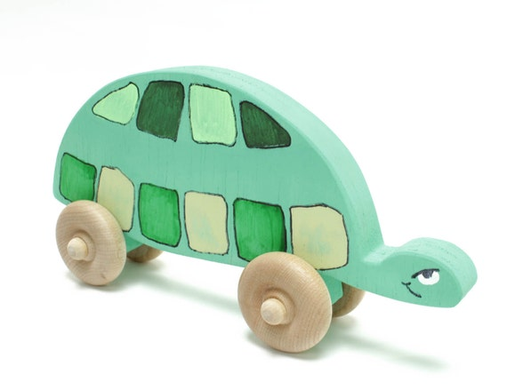 Turtle Push Toy. Baby toy, toddler toy,nursery.