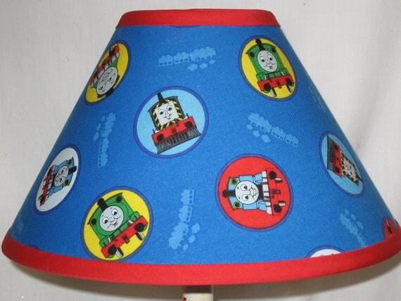 Thomas the train children 39 s fabric lamp for Kids train fabric