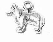 Sheltie Collie Dog Charm Pendant mini Sterling Silver 925