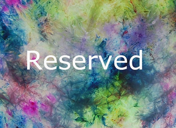 Reserved for Laura -- hand painted Silk Scarf in Turquoise, magenta, gold, green