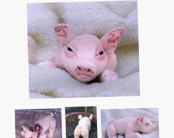 PDF Pattern  e book  Stuffed mini Pig