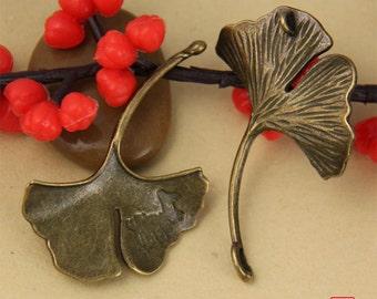 5pcs Ginkgo Leaf Charm