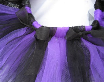 Purple  Black Tutu - Girls, Toddlers, Infants Photo Prop Halloween Costume