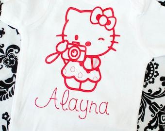 Hello kitty photographer onesie or tshirt