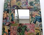 Green Lantern and Arrow Pop Art original vintage comic small mirror