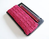 Fuchsia Pink Crochet Pencil Case - KeraSoftwear