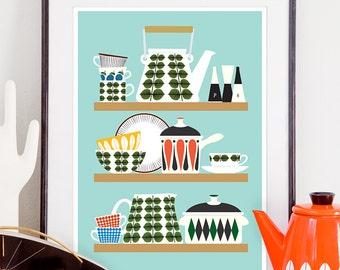 Popular items for vintage kitchen art on Etsy