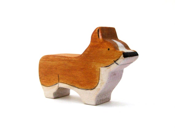 Pembroke Welsh Corgi Dog Toy - Handmade Toy - Wooden Toy