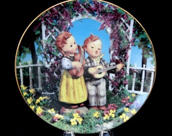 LITTLE MUSICIANS Hummel Collection Little Companions Porcelain Collector Plate First Edition Recently Reduced