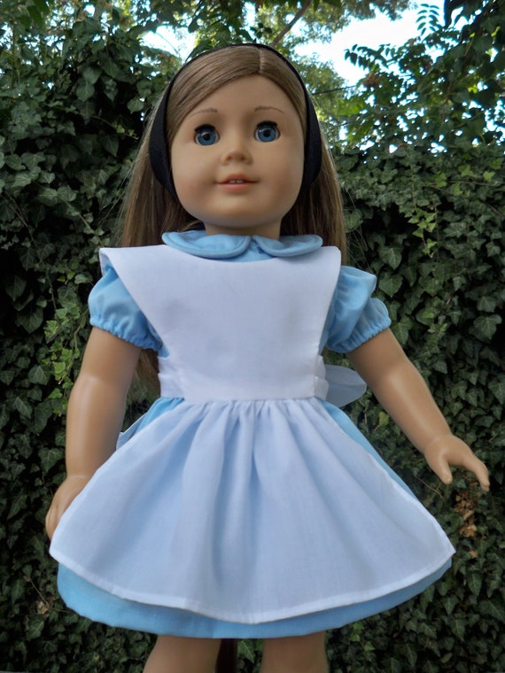Original Alice in Wonderland Blue Cotton Doll Outfit for American Girl or 18 Inch doll