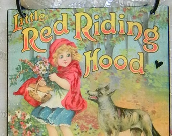 Little Red Riding Hood Decorative Wall Plaque
