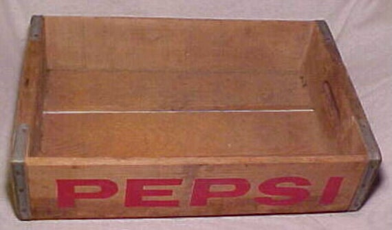 Vintage Wooden Pepsi Cola , Old Wood Soda Crate Box
