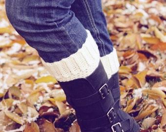 Crochet Boot Cuffs-Boot Fashion-Girls Leggings-Teen Leg Warmers-Womens Boot Cuff-Kids Boot Accessory-Cream-Pearl Grey