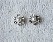 Bridal Earring Wedding Earring Rhinestone Earring Crystal Earring Pearl Earring Stud Earring Wedding Bridal Jewelry ER037LX