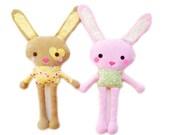 Bunny Sewing Pattern - Mini Plush Toy Bunny Pattern - PDF