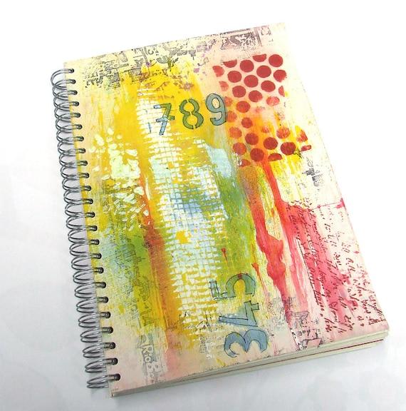 Junk Journal - mixed media Art Journal - Smash Book - Notebook - Sketchbook