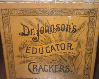 Dr. Johnson's Educator Crackers Tin