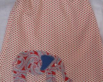 Paisley Elephant on Polka Dot Dress in Size 4T