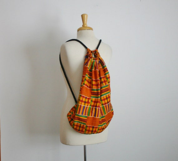 1980s geometric ethnic print over the shoulder bag