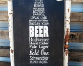 Personalized Man Cave Sign,  Beer Sign, Bar Sign, Pub Sign, Vintage Bar Sign, Rustic Sign, Wedding Gift, Grooms Gift 12x24