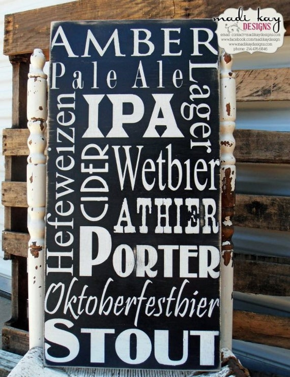 Man Cave Beer Signs : Beer man cave sign rustic gift for him wedding