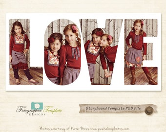 Love Storyboard Template Storyboard Photoshop Template for Photographers - S101