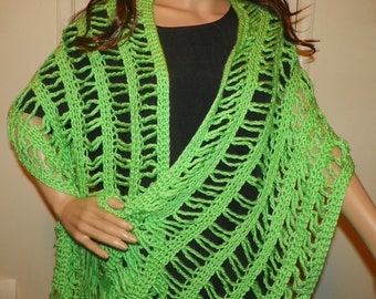 Beautiufl Green  Shawl Wrap     Ready to Ship