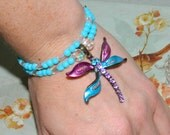 Doggie Bling - Dragonfly necklace for your dog / puppy - XX-SMALL  - OOAK