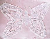 Butterfly Doily Vintage