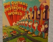 The Guitars That Destroyed The World 1973 Record Album Music LP Collectible Album Cover Art Columbia Records