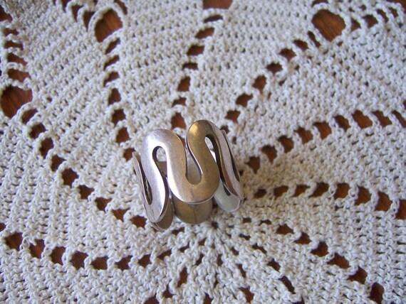 SALE Sterling Wavy Ring