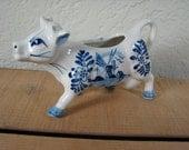 Vintage 1950's 1960's Porcelain Cow Creamer Windmill Design Made in Korea