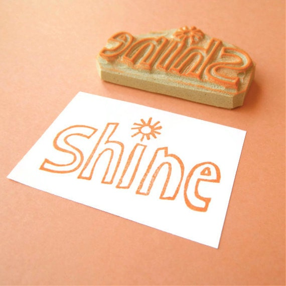 Shine Rubber Stamp from Creatiate - part of collection of SHINE art on Etsy