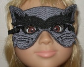 Grey & Black Cat Mask for American Girl, BJD, and BFC Ink Dolls