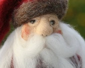 Black Friday Etsy Sale Needle Felted Santa Claus - Made to Order