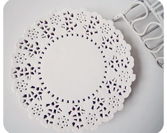 "Flower Lace Doily 4.5"" for Scrap booking or card making / pack"