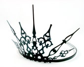 Gothique 2.0 - Evil Queen Crown Evil Queen Tiara Black Crown Black Tiara Filigree Tiara Maleficent Tiara Gothic Tiara Regina OUAT Crown