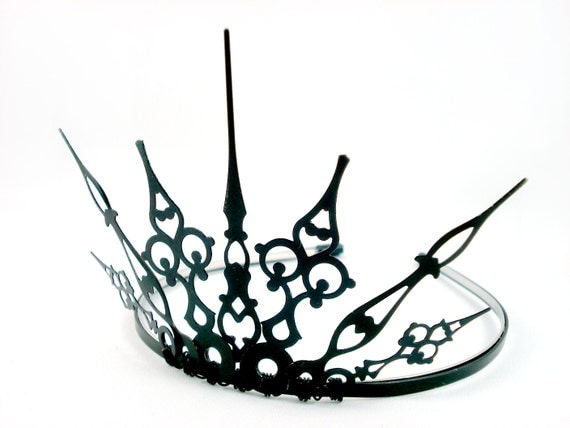 Gothique 2.0 - Evil Queen Crown Evil Queen Tiara Black Crown Black Tiara Filigree Tiara Maleficent Tiara Gothic Tiara Regina OUAT Crown